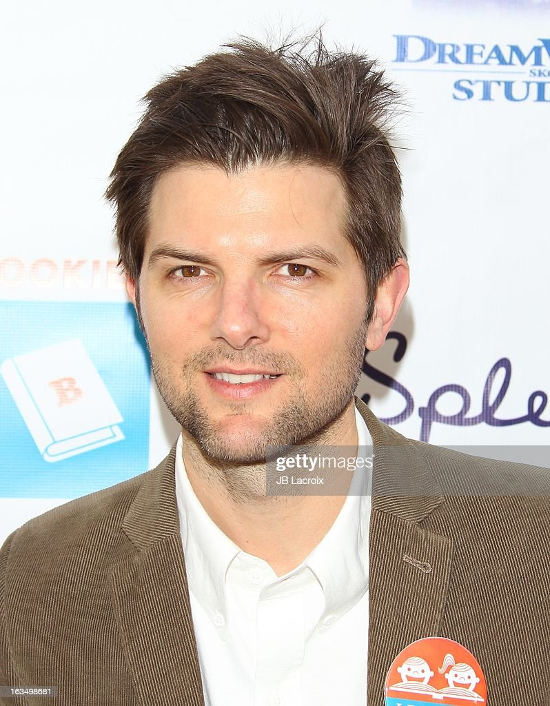 Adam Scott attends the 4th Annual Milk + Bookies Story Time Celebration at Skirball Cultural Center on March 10, 2013 in Los Angeles, California.
