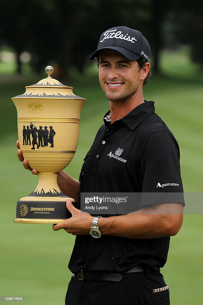 <a gi-track='captionPersonalityLinkClicked' href=/galleries/search?phrase=Adam+Scott+-+Golfer&family=editorial&specificpeople=202039 ng-click='$event.stopPropagation()'>Adam Scott</a> of Australia celebrates with the Gary Player Cup trophy after his four-stroke victory during the final round of the World Golf Championships-Bridgestone Invitational on the South Course at Firestone Country Club on August 7, 2011 in Akron, Ohio.
