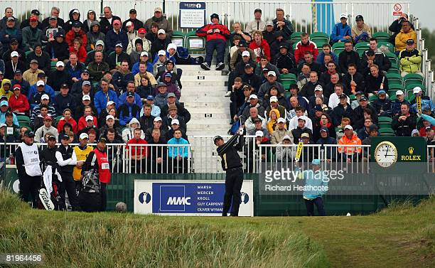 Adam Scott of Australia hits his tee shot on the 7th hole during the First Round of the 137th Open Championship on July 17 2008 at Royal Birkdale...