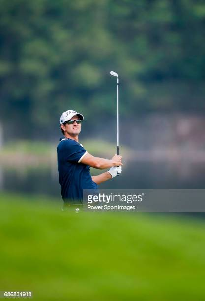 Adam Scott of Australia in action during day one of the WGC HSBC Champions at the Mission Hills Resort on November 1 in Shenzhen China