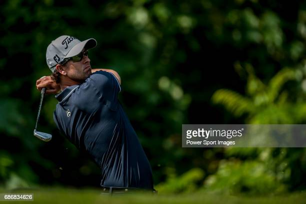 Adam Scott of Australia in action during the day four of the WGC HSBC Champions at the Mission Hills Resort on November 04 in Shenzhen China