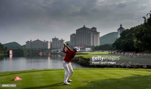Adam Scott of Australia in action during the day three of the WGC HSBC Champions at the Mission Hills Resort on November 03 in Shenzhen China
