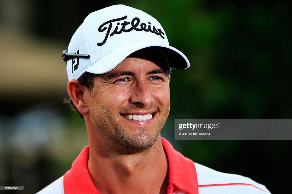 Adam Scott of Australia is interviewed after round two of THE PLAYERS Championship at THE PLAYERS Stadium course at TPC Sawgrass on May 10, 2013 in Ponte Vedra Beach, Florida.