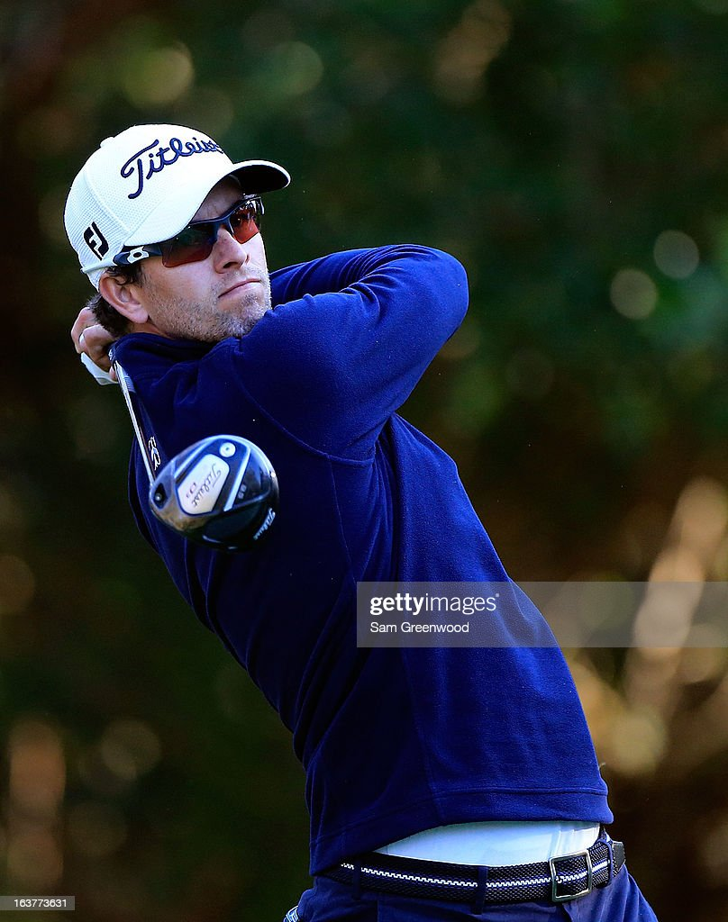 Adam Scott of Australia plays a shot on the 11th hole during the second round of the Tampa Bay Championship at the Innisbrook Resort and Golf Club on March 15, 2013 in Palm Harbor, Florida.