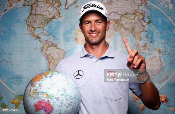 Adam Scott of Australia poses for a portrait prior to the start of the Crowne Plaza Invitational at Colonial on May 21 2014 in Fort Worth Texas Scott...