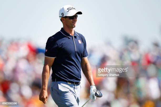Adam Scott of Australia walks across the seventh hole during the first round of the 2017 US Open at Erin Hills on June 15 2017 in Hartford Wisconsin
