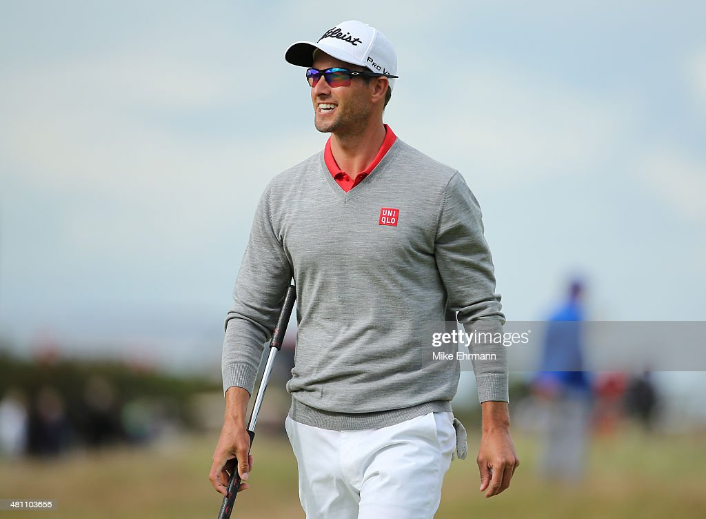 <a gi-track='captionPersonalityLinkClicked' href=/galleries/search?phrase=Adam+Scott&family=editorial&specificpeople=202039 ng-click='$event.stopPropagation()'>Adam Scott</a> of Australia walks along the 17th hole during the second round of the 144th Open Championship at The Old Course on July 17, 2015 in St Andrews, Scotland.