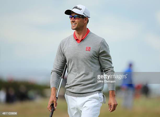 Adam Scott of Australia walks along the 17th hole during the second round of the 144th Open Championship at The Old Course on July 17 2015 in St...