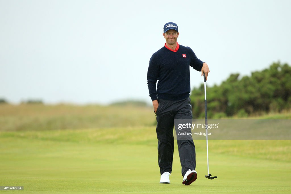 <a gi-track='captionPersonalityLinkClicked' href=/galleries/search?phrase=Adam+Scott&family=editorial&specificpeople=202039 ng-click='$event.stopPropagation()'>Adam Scott</a> of Australia walks on the 5th green during the final round of the 144th Open Championship at The Old Course on July 20, 2015 in St Andrews, Scotland.