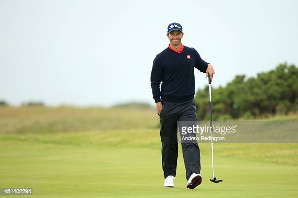 Adam Scott of Australia walks on the 5th green during the final round of the 144th Open Championship at The Old Course on July 20 2015 in St Andrews...