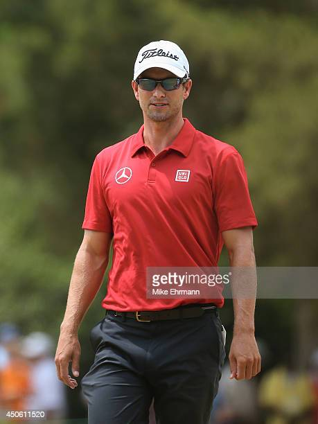 Adam Scott of Australia walks to the second tee during the third round of the 114th US Open at Pinehurst Resort Country Club Course No 2 on June 14...