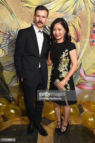 Adam Selman and Alina Cho attend the MAC x Guo Pei dinner on May 5 2015 in New York City