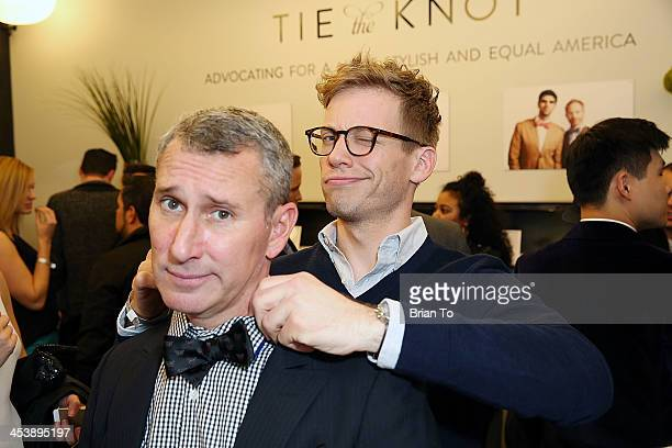 Adam Shankman and actor Barrett Foa attend Tie The Knot PopUp Store at The Beverly Center on December 5 2013 in Los Angeles California