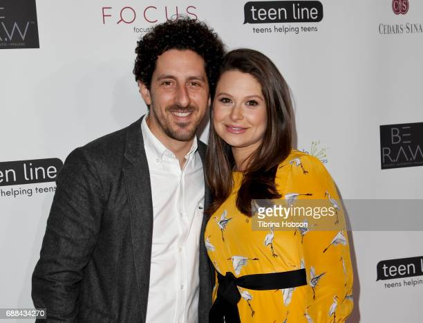 Adam Shapiro and Katie Lowes attend Teen Line's 'Food For Thought' Luncheon at The Beverly Hilton Hotel on May 25 2017 in Beverly Hills California