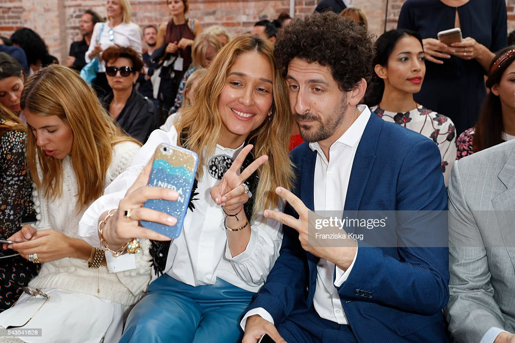Adam Shapiro and Tiany Tiriloff attend the Dorothee Schumacher show during the Mercedes-Benz Fashion Week Berlin Spring/Summer 2017 at Elisabethkirche on June 29, 2016 in Berlin, Germany.