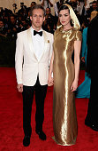Adam Shulman and Anne Hathaway attend the 'China Through The Looking Glass' Costume Institute Benefit Gala at the Metropolitan Museum of Art on May 4...