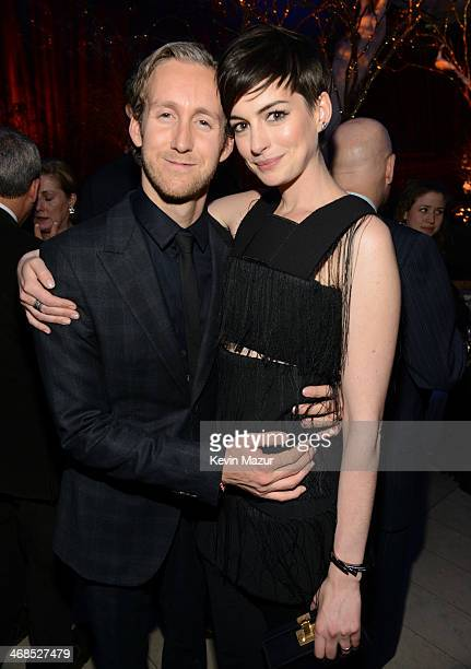 Adam Shulman and Anne Hathaway attend The Great American Songbook event honoring Bryan Lourd at Alice Tully Hall on February 10 2014 in New York City