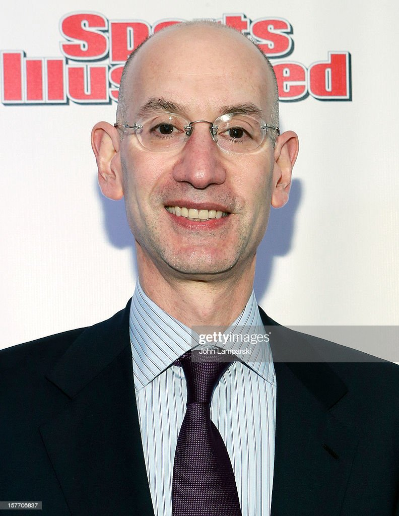 <a gi-track='captionPersonalityLinkClicked' href=/galleries/search?phrase=Adam+Silver&family=editorial&specificpeople=679055 ng-click='$event.stopPropagation()'>Adam Silver</a> attends the 2012 Sports Illustrated Sportsman of the year award presentation at Espace on December 5, 2012 in New York City.