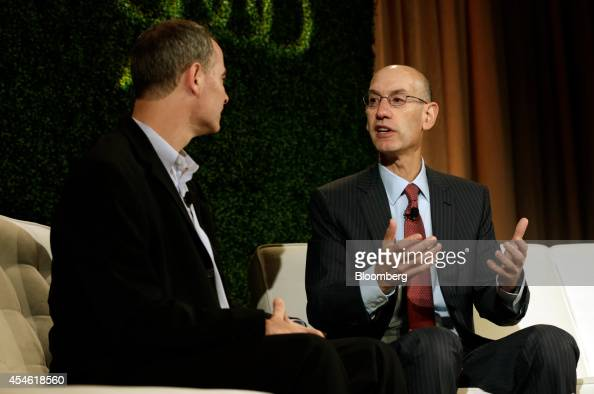 Adam Silver commissioner of the National Basketball Association speaks at the Bloomberg Sports Business Summit in New York US on Thursday Sept 4 2014...