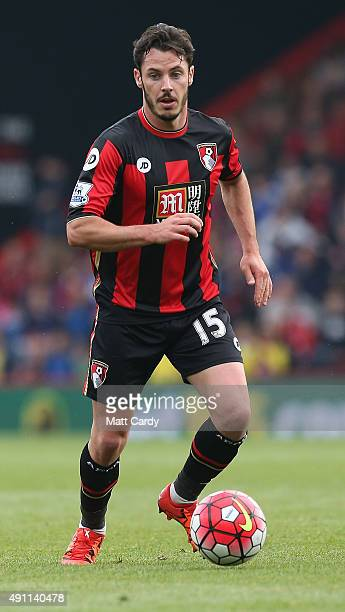Adam Smith of Bournemouth during the Barclays Premier League match between AFC Bournemouth and Watford at the Vitality Stadium on October 3 2015 in...