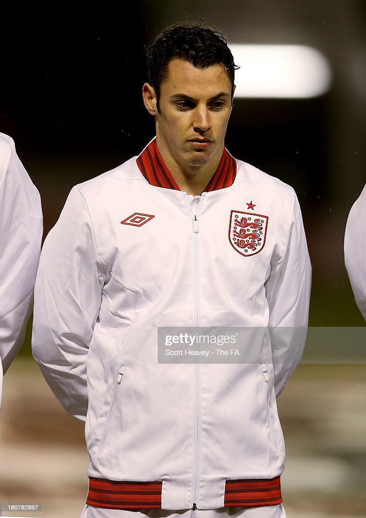 Adam Smith of England during the International Match between England Under 21's and Sweden Under 21's at Banks' Stadium on February 5, 2013 in Walsall, England.