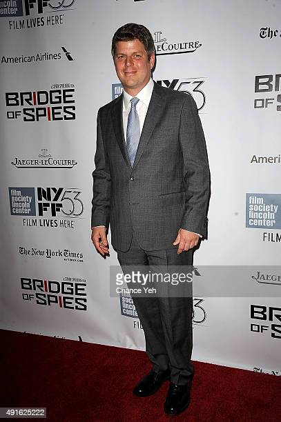 Adam Stockhausen attends the 53rd New York Film Festival premiere of 'Bridge Of Spies' at Alice Tully Hall Lincoln Center on October 4 2015 in New...