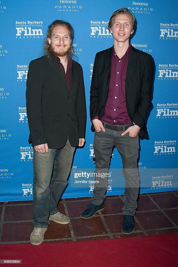 Adam Stumle and Martin Risberg arrive at the presentation of the Montecito Award for The 31st Santa Barbara International Film Festival at the Arlington Theatre on February 9, 2016 in Santa Barbara, California.
