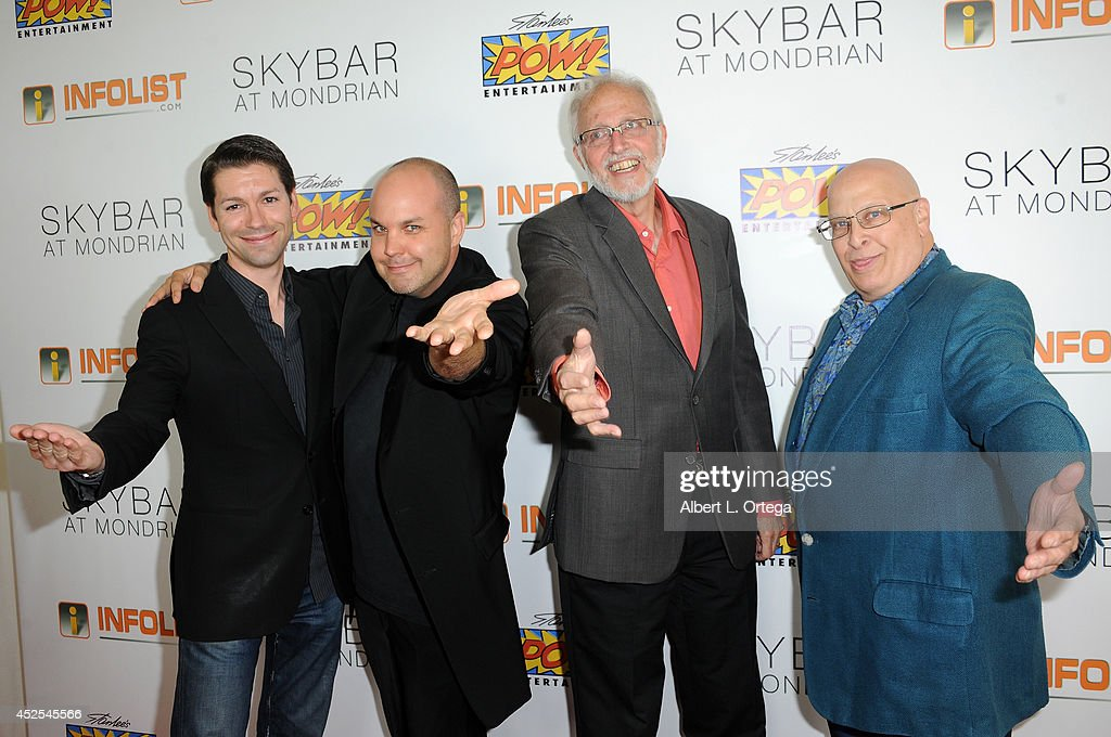 Adam Sullivan, Neo Edmund, Marv Wolfman and Craig Miller at Infolist.com's Pre-Comic-Con Bash held at Skybar on July 17, 2014 in West Hollywood, California.