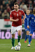 Adam Szalai of Hungary in action during the International Friendly match between Hungary and Croatia at Groupama Arena on March 26 2016 in Budapest...