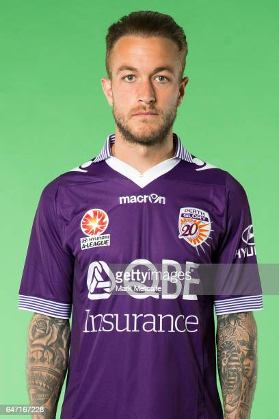 Adam Taggart of the Glory poses during the Perth Glory 2016/17 ALeague headshots session at Fox Sports Studios on September 21 2016 in Sydney...