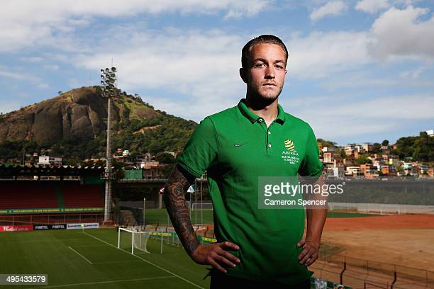 Adam Taggart of the Socceroos poses following an Australian Socceroos press conference discussing the 23man squad for the FIFA 2014 World Cup Brazil...