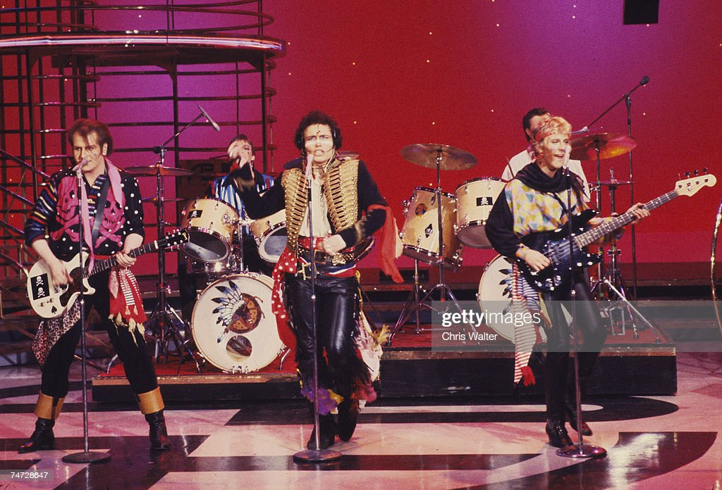 Adam The Ants on American Bandstand at the Music File Photos 1980's in Hollywood California