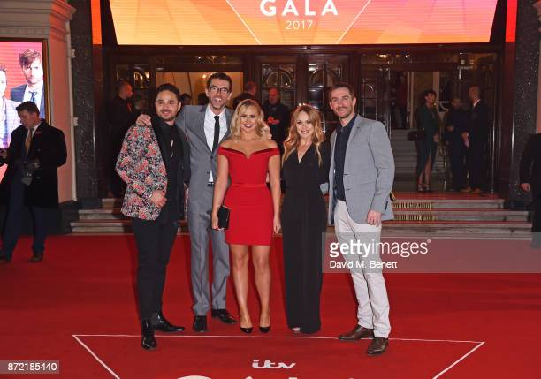 Adam Thomas Mark Charnock Amy Walsh Michelle Hardwick and Antony Quinlan attend the ITV Gala held at the London Palladium on November 9 2017 in...