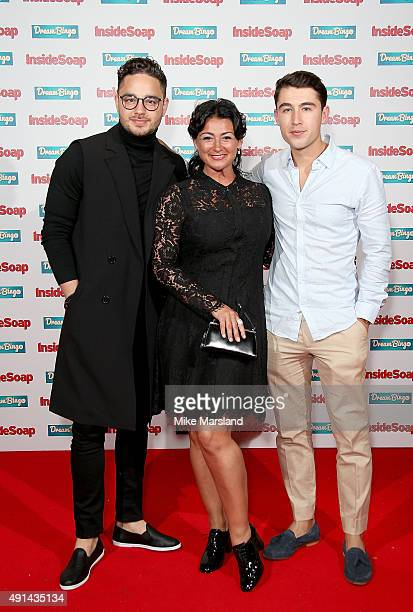 Adam Thomas Natalie J Robb and Joe Gill attend the Inside Soap Awards at DSKTRT on October 5 2015 in London England