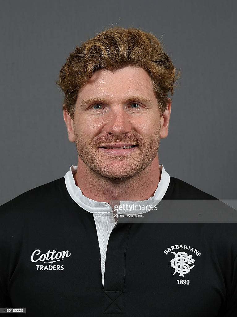 Adam Thomson of the Barbarians poses for a portrait during the Barbarians photocall at the Westbury Hotel on August 25, 2015 in London, England.
