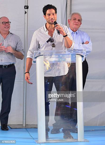 Adam 'Tito' Rodríguez attends Magic Mike XXL cast honored with stars on The Official Miami Walk Of Fame at Bayside Marketplace on June 24 2015 in...