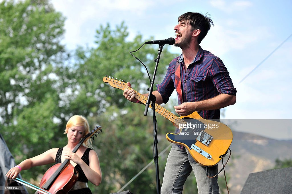 Adam Turla of Murder by Death performs at The Hootenanny music festival on July 6, 2013 in Orange, California.