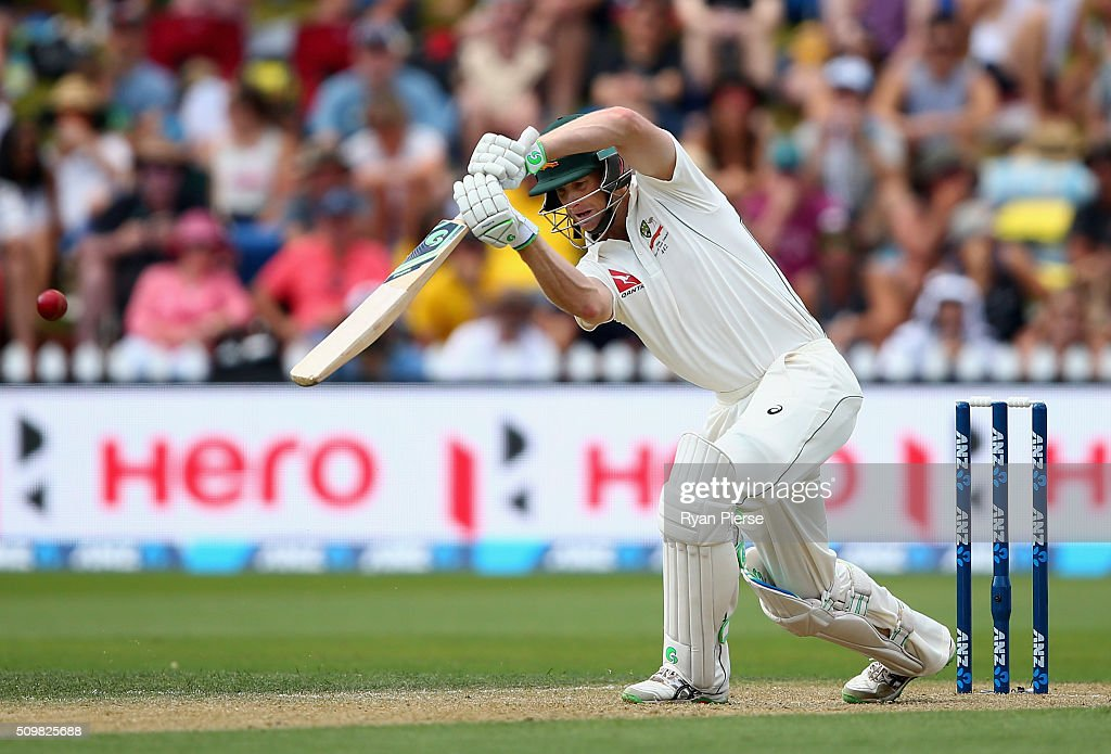 <a gi-track='captionPersonalityLinkClicked' href=/galleries/search?phrase=Adam+Voges&family=editorial&specificpeople=724770 ng-click='$event.stopPropagation()'>Adam Voges</a> of Australia bats during day two of the Test match between New Zealand and Australia at Basin Reserve on February 13, 2016 in Wellington, New Zealand.