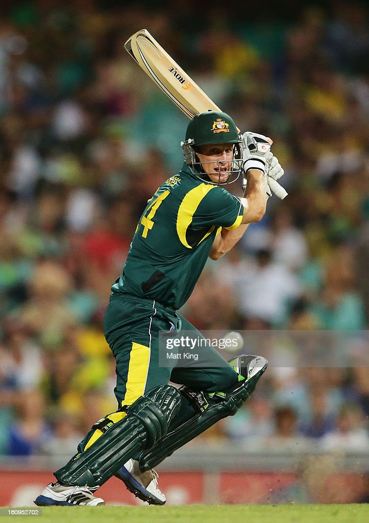 Adam Voges of Australia plays a cut shot during game four of the Commonwealth Bank One Day International Series between Australia and the West Indies at Sydney Cricket Ground on February 8, 2013 in Sydney, Australia.