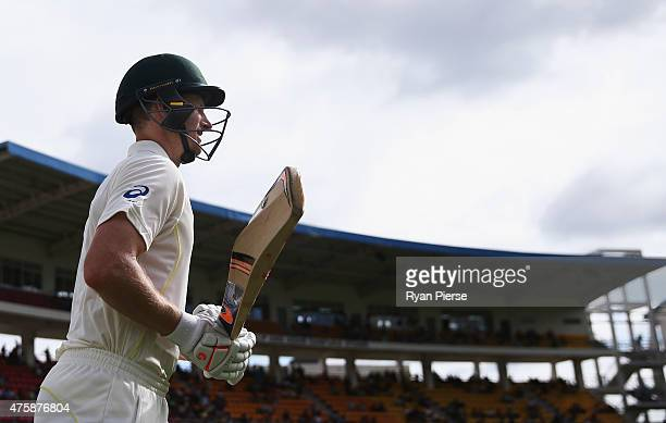 Adam Voges of Australia walks onto the ground after tea on 114 not out during day two of the First Test match between Australia and the West Indies...