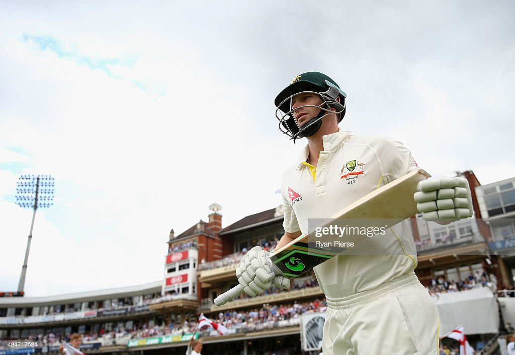 <a gi-track='captionPersonalityLinkClicked' href=/galleries/search?phrase=Adam+Voges&family=editorial&specificpeople=724770 ng-click='$event.stopPropagation()'>Adam Voges</a> of Australia walks out to bat during day two of the 5th Investec Ashes Test match between England and Australia at The Kia Oval on August 21, 2015 in London, United Kingdom.