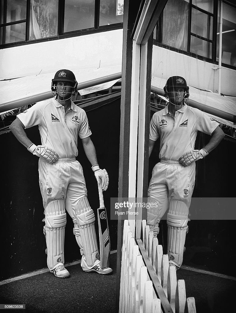 Adam Voges of Australia walks out to bat during day two of the Test match between New Zealand and Australia at Basin Reserve on February 13, 2016 in Wellington, New Zealand.