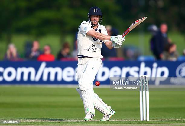 Adam Voges of Middlesex bats during day one of the Specsavers County Championship Division One match between Middlesex and Hampshire at Merchant...