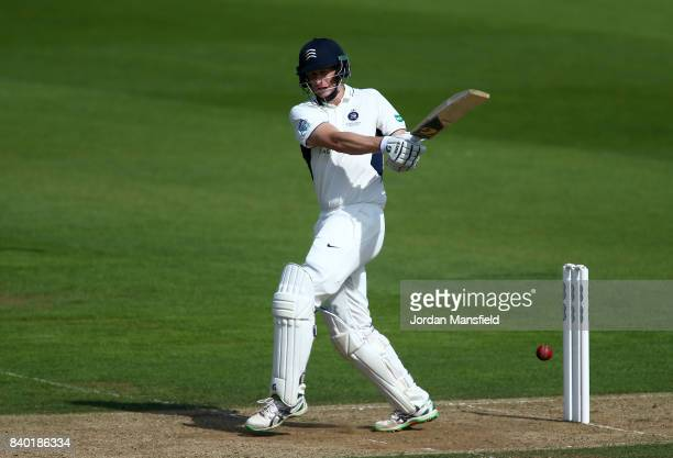 Adam Voges of Middlesex bats during day one of the Specsavers County Championship Division One match between Surrey and Middlesex at The Kia Oval on...