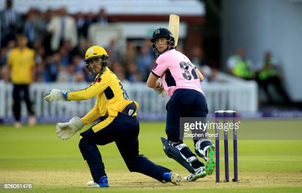 Adam Voges of Middlesex bats during the NatWest T20 Blast match between Middlesex and Hampshire at Lord's Cricket Ground on August 3 2017 in London...