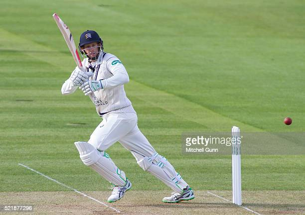 Adam Voges of Middlesex batting during the Specsavers County Championship match between Middlesex and Warwickshire at Lords Cricket Ground on April...