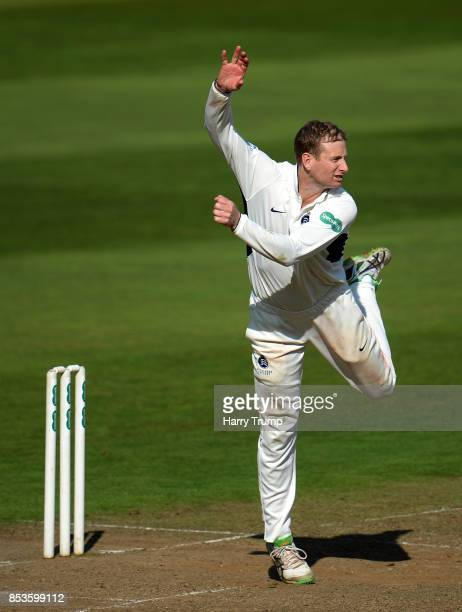 Adam Voges of Middlesex bowls during Day One of the Specsavers County Championship Division One match between Somerset and Middlesex at The Cooper...