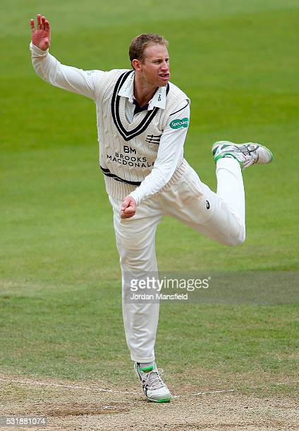 Adam Voges of Middlesex bowls during day three of the Specsavers County Championship Division One match between Surrey and Middlesex on May 17 2016...