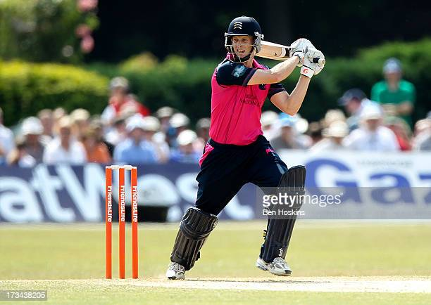 Adam Voges of Middlesex in action during the Friends Life T20 match between Middlesex Panthers and Hampshire Royals at Old Deer Park on July 14 2013...