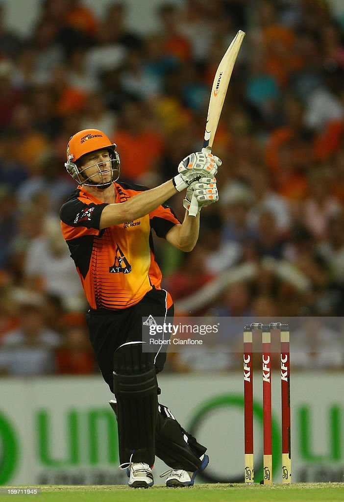 Adam Voges of the Scorchers bats during the Big Bash League final match between the Perth Scorchers and the Brisbane Heat at the WACA on January 19, 2013 in Perth, Australia.